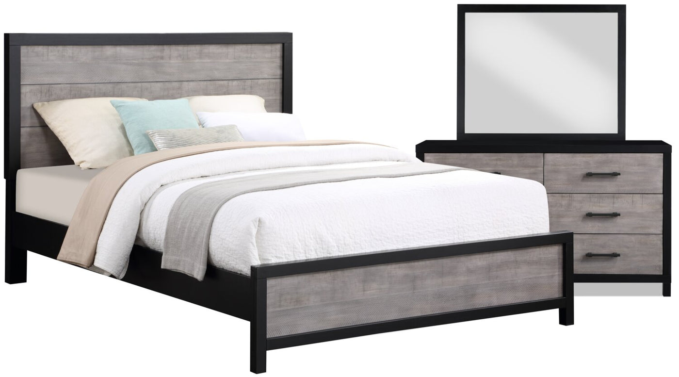 Reese 5 Piece Queen Bedroom Package Black And Grey The Brick