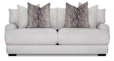 Fawn Linen-Look Fabric Sofa - Grey - Contemporary style Sofa in Grey Plywood
