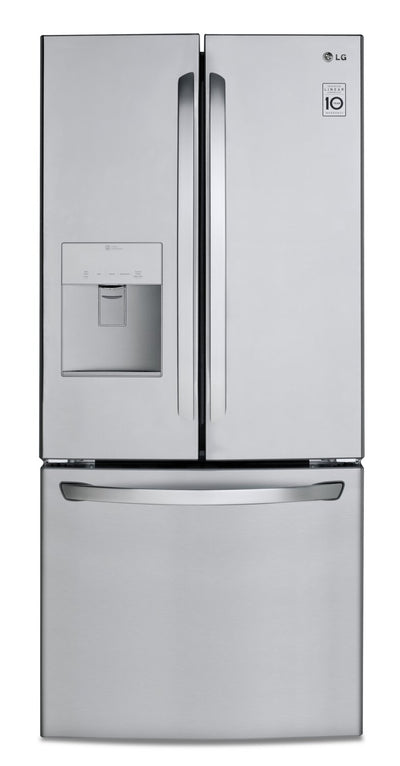 LG 22 Cu. Ft. French-Door Refrigerator with Smart Cooling - LFD22716ST - Refrigerator in Stainless Steel
