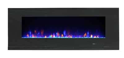 "Billy 42"" Wall-Mount Electric Fireplace  - Contemporary style Electric Fireplace in Black"