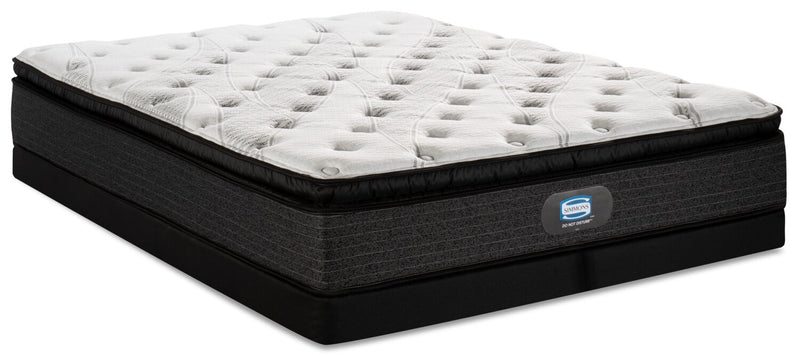 Simmons Do Not Disturb Leeds Pillowtop Low-Profile Split Queen Mattress Set | Ensemble matelas à plateau-coussin divisé à profil bas Leeds Do Not DisturbMD Simmons pour grand lit | SDNDLSQP