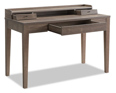 Jude Desk - Hazelnut - Modern style Desk in Hazelnut Medium Density Fibreboard (MDF)