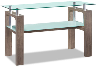 Harvy Sofa Table - Contemporary style Sofa Table in Hazlenut Glass