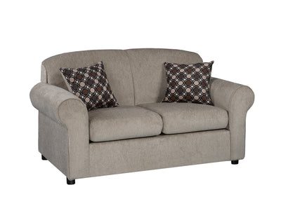 Rene Chenille Loveseat - Dove - Contemporary style Loveseat in Dove Solid Woods