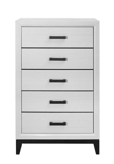 Kate Chest - White - Contemporary style Chest in White Asian Hardwood, Medium Density Fibreboard (MDF), Plywood