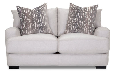 Fawn Linen-Look Fabric Loveseat - Grey | Causeuse Fawn en tissu d'apparence lin - grise  | FAWNGYLV