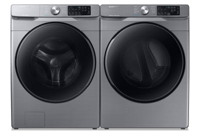 Samsung 5.2 Cu. Ft. Front-Load Washer and 7.5 Cu. Ft. Electric Dryer - Platinum - Laundry Set in Platinum