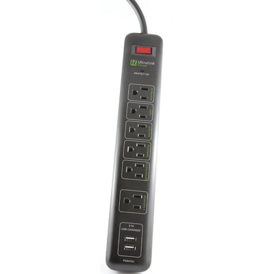 Ultralink Outlet Multimedia Surge Protector - PS600U | Parasurtenseur multimédia UltralinkMD - PS600U | PS600UPB
