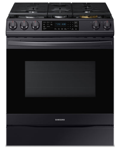 Samsung 6.0 Cu. Ft. Gas Range with True Convection and Air Fry - NX60T8511SG - Gas Range in Black Stainless Steel