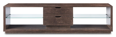 "Alex 84"" TV Stand  - Contemporary style TV Stand in Walnut Oak"
