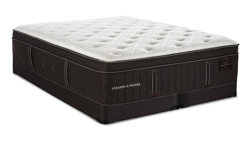 Stearns & Foster Founders Collection Silver Coast Eurotop Low-Profile Split Queen Mattress Set