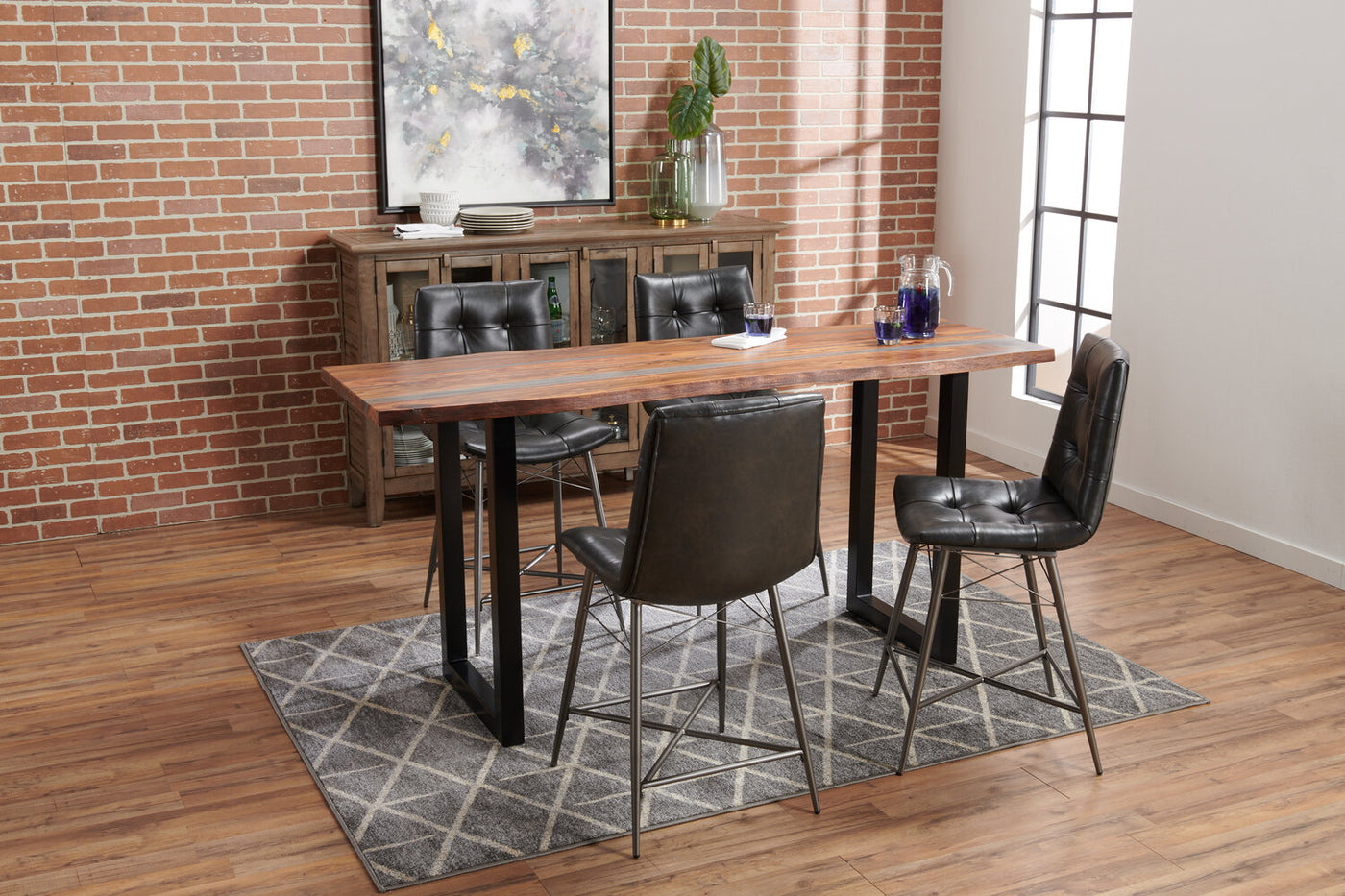 Bowery 5 Piece Counter Height Dining Package The Brick