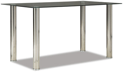 Dane Dining Table - Modern style Dining Table in Chrome Glass