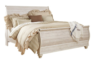 Willowton Sleigh King Bed | Très grand lit-bateau Willowton | WILLKSBD