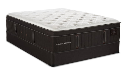 Stearns & Foster Founders Collection Silver Coast Eurotop Queen Mattress Set | Ensemble matelas à Euro-plateau Silver Coast collection Founders de Stearns & Foster pour grand lit | SILVERQP