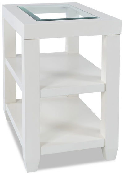Corey Chairside Table - White | Table de fauteuil Corey - Blanche | CORWHCST