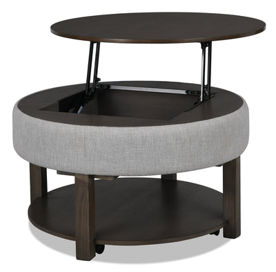 Elroy Coffee Table with Lift-Top - Contemporary style Coffee Table in Dark Brown Mango, Parawood