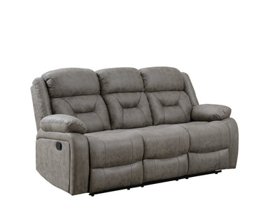 Sala Faux Suede Reclining Sofa - Coffee