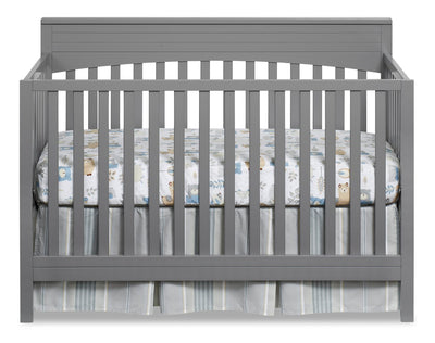 Harper 4-in-1 Convertible Crib - Dove Grey - Traditional style Crib in Dove Grey Solid Woods