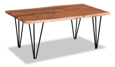 Kaleb Coffee Table - Contemporary, Industrial, Rustic style Coffee Table in Natural acacia wood Acacia