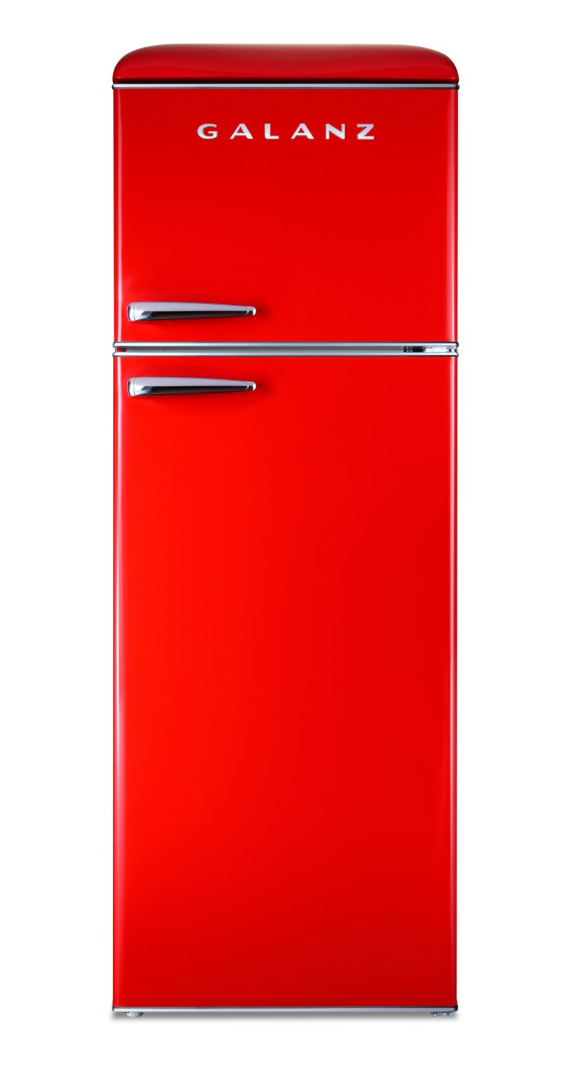 Galanz 12 Cu. Ft. Top-Freezer Retro Refrigerator - GLR12TRDEFR - Refrigerator in Red