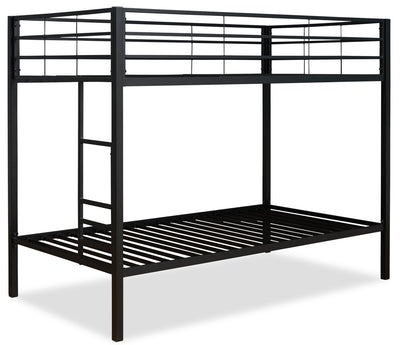 Aura Bunk Bed - Black - Contemporary style Bunk Bed in Black Metal