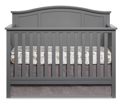 Emerson 4-in-1 Convertible Crib - Dove Grey - Traditional style Crib in Dove Grey Solid Woods