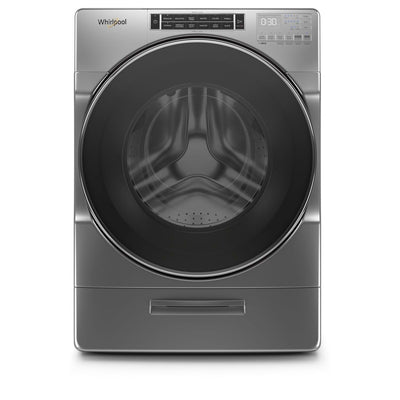 Whirlpool 5.8 Cu. Ft. Front-Load Washer with Load & Go™ XL Dispenser - WFW8620HC - Washer in Chrome Shadow