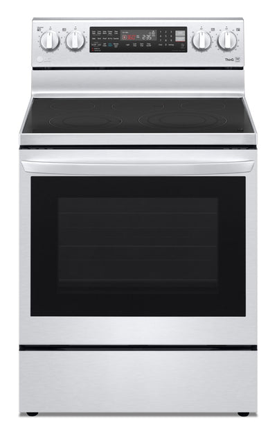 LG 6.3 Cu. Ft. Electric InstaView™ Range with Air Fry - LREL6325F