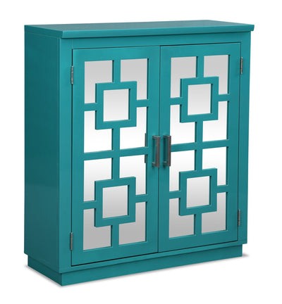 Darci Accent Cabinet - Blue | Armoire décorative Darci - Bleue | DARBLACC