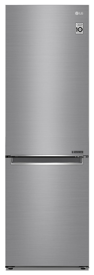 LG 12 Cu. Ft. Counter-Depth Bottom-Freezer Refrigerator - LBNC12231V - Refrigerator in Platinum Silver