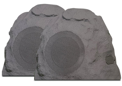 Curtis/Proscan/RCA/Sylvania Bluetooth Speaker - Sylvania SP247 Portable Bluetooth Outdoor Rock Speakers - Set of 2
