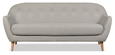 Calla Linen-Look Fabric Sofa – Light Grey|Sofa Calla en tissu d'apparence lin - gris pâle|CALLLGSF