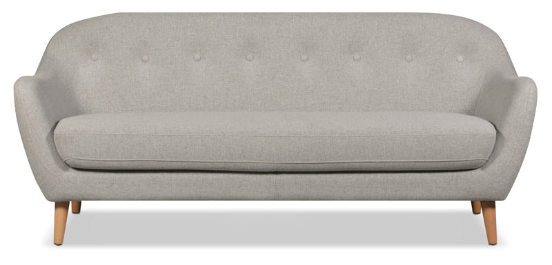 Calla Linen-Look Fabric Sofa – Light Grey|Sofa Calla en tissu d'apparence lin - gris pâle