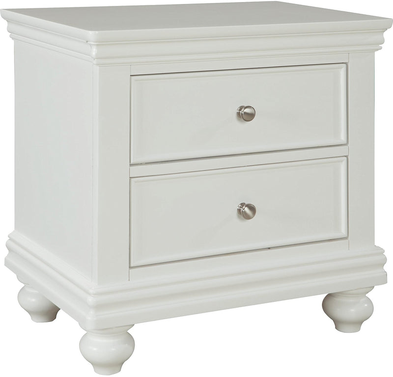 Bridgeport Nightstand – White|Table de nuit Bridgeport - blanche