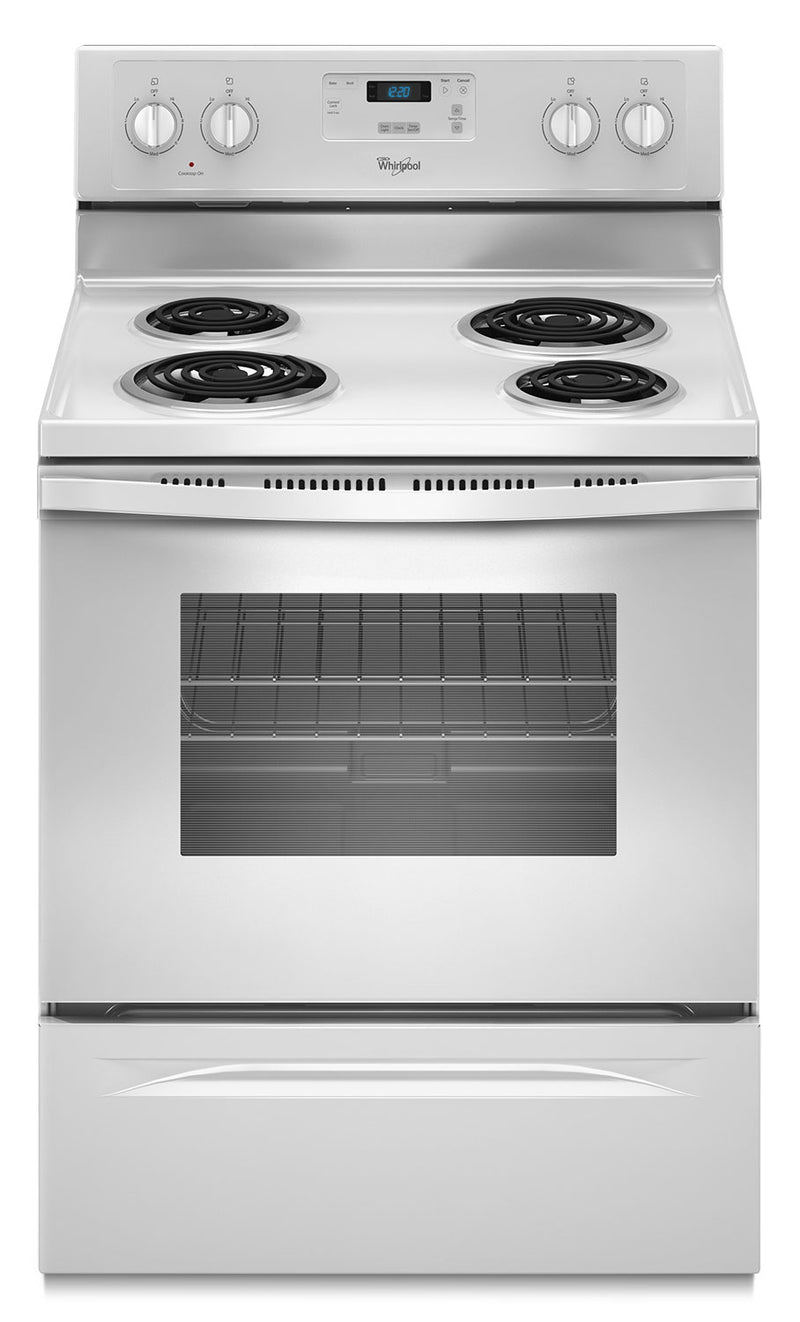 Whirlpool® 4.8 Cu. Ft. Freestanding Counter Depth Electric Range|Cuisinière électrique autoportante 4.8 pi³ Whirlpool - YWFC150M0EW