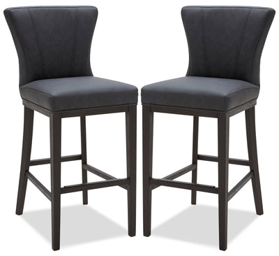 Quinn Bar Stool, Set of 2 – Grey|Tabouret bar Quinn, ensemble de 2 - gris|QUINGBSP