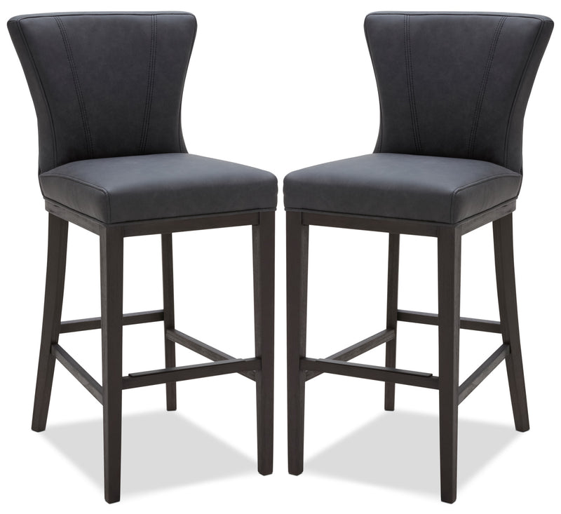 Quinn Bar Stool, Set of 2 – Grey|Tabouret bar Quinn, ensemble de 2 - gris