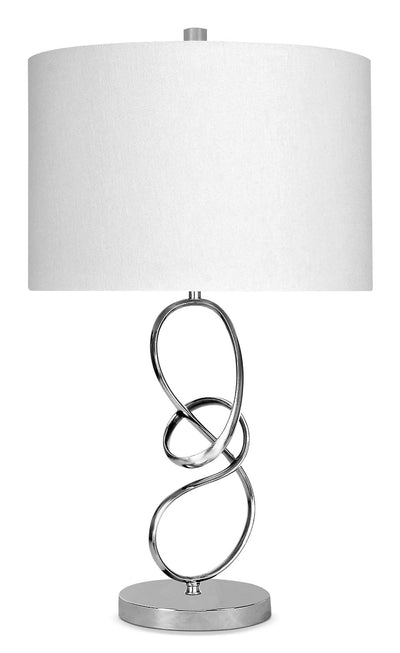 Chrome Swirl Table Lamp|Lampe de table en torsade chromée|IT4925TL