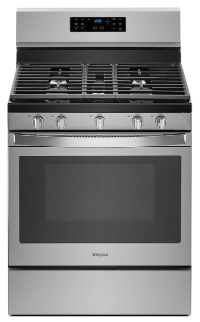 Whirlpool® 5.0 Cu. Ft. Freestanding Gas Range with Fan Convection Cooking - Gas Range in Stainless Steel