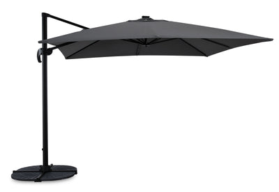 Solar Cantilevered Patio Umbrella with Base|Parasol excentré Solar pour la terrasse avec base|SOLAGCUP