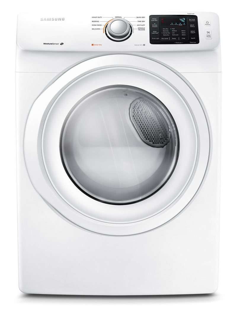 Samsung 7.5 Cu. Ft. Electric Dryer - White|Sécheuse électrique Samsung de 7,5 pi³ - blanche|DV42H5000