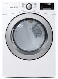 LG 7.4 Cu. Ft. Electric Dryer with Sensor Dryer Technology and WiFi DLE3500W - White