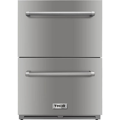 Thor Kitchen 5.3 Cu. Ft. Under-Counter Refrigerator Drawer - TRF2401U-SS|Réfrigérateur-tiroir sous le comptoir Thor Kitchen de 5,3 pi3 - TRF2401U-SS|TRF2401S