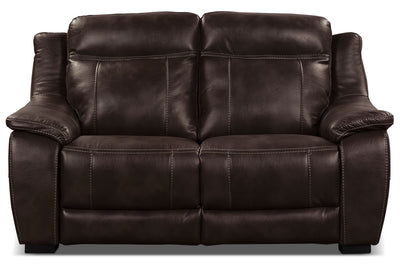 Novo Leather-Look Fabric Loveseat – Brown|Causeuse Novo en tissu d'apparence cuir - brune|NOVOBNLV
