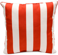 Red Stripes Accent Pillow