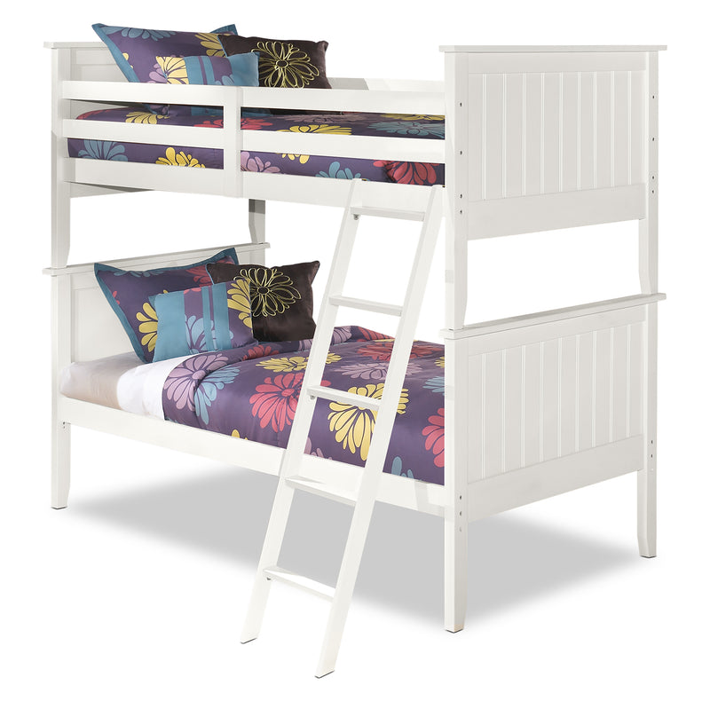 Lulu Twin Bunk Bed - Country style Bunk Bed in White
