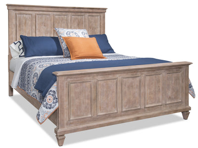 Calistoga King Bed – Dovetail Grey - Rustic style Bed in Grey Brown Pine Solids