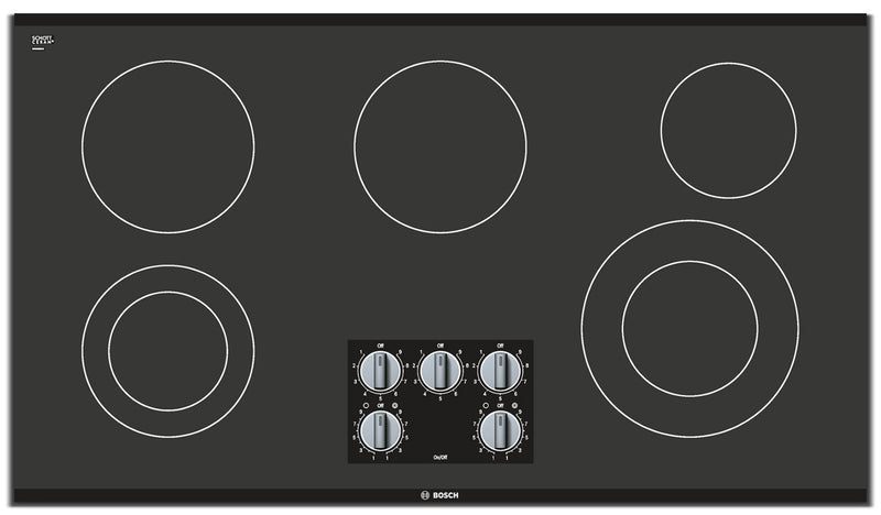 "Bosch 500 Series 36"" 5-Burner Electric Cooktop – NEM5666UC - Electric Cooktop in Black"