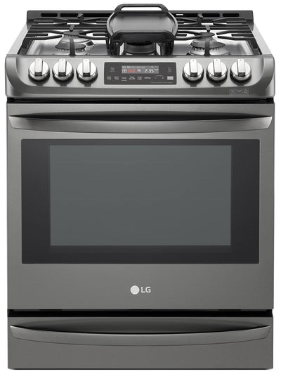 LG 6.3 Cu. Ft. Front-Control Freestanding Gas Range – LSG5513BD - Gas Range in Black Stainless Steel
